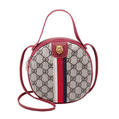 Lady Fashion Printed Small Round Bag Crossbody Purse Handbag Girl Shoulder Bag 01 all code