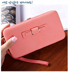 Girl Sweet Purse Lady Long wallet New Design Fashion Multifunctional Purse PU Leather Wallet 01 all code