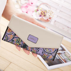 New sweet print clutch bag lady card bag buckle wallet 01 all code
