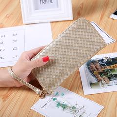 Summer new women wallet lady solid color long wallet tri-fold zipper women's wallet 01 all code