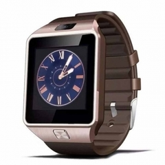 Smart Watch DZ09 Android Phone TF Sim Card Camera Men Women Sport Wristwatch with Packing Box gold