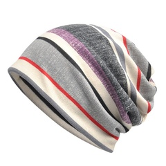 Best selling bib hat dual-use Joker striped street casual fashion baotou hat