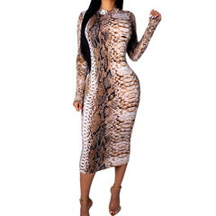 New European and American women's print dress ebay Amazon cross-border explosions hot dress number 1 s