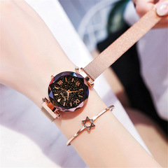 Luxury Women Watches Magnetic Starry Sky Female Clock Quartz Wristwatch Fashion Ladies Wrist Watch purple