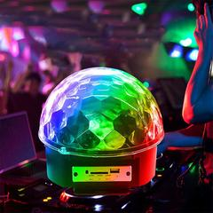 Home KTV Christmas Party Festival Mini Bluetooth Speaker USB Speaker LED Projection Light Crystal Color mixing AC110-220(V) bluetooth connection