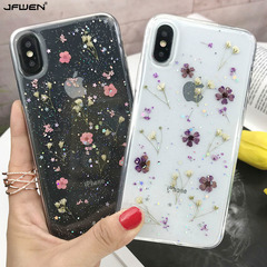 Applicable iphoneX xsmax Epoxy mobile phone shell dried flowers small floral anti-relief Floral iPhoneX