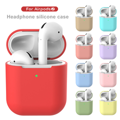 Apple AirPods 2 Silicone Case Wireless Bluetooth Headset white