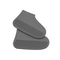Silicone shoe cover waterproof rainy day thick non-slip wear rubber shoes for men and women Dark gray L
