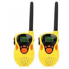 Wireless call intercom toy children's pair of parent-child interactive dialogue plastic toys Yellow walkie talkie