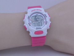Watch female multi-function colorful luminous sports electronic digital display children's watch red