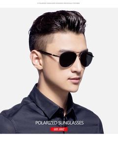 Men's Polarized Sunglasses Mirror Classic Driver Driving Sunglasses Sunglasses black Metal Material
