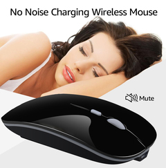 Built-in charging 2.4G wireless mouse across the ultra-thin silent mouse black one size