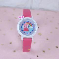George girl cartoon student Korean version of the simple and lovely children pig watch red
