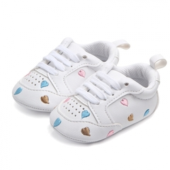 Boy and girl Red heart five-pointed star baby shoes baby soft-sole shoes 01 11CM