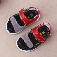 Summer baby boy fashion walking shoes kids leather sandals 01 14