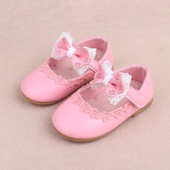 Spring kids cute bow knot shoes lace princess shoe girl baby walking shoes 01 15