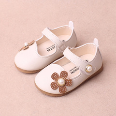 Spring kids cute leather shoes flower princess shoe girl baby walking shoes 01 15