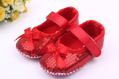 Baby girl fashion sequin walking shoes non-skid breathable princess shoes 01 11(10.5cm)