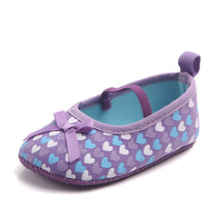 Baby girl sweet love cloth walking shoes non-skid breathable toddler shoes 01 11(10.5cm)