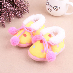 Winter baby girl thick shoes boy cute walking shoes 01 12(11.5cm)