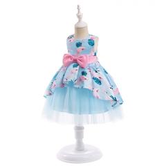 Baby girl exquisite dress kids wedding dress birthday party stage dress 02 150cm
