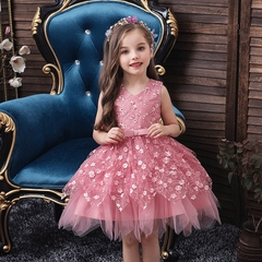Baby girl dress skirt kids multilayer lace skirt girl princess dress party dress 01 80cm
