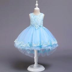 New kids party dress girl princess dress wedding dress trailing fluffy show skirt 04 110cm