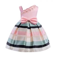 Girl sweet princess dress kids pearl flower dress birthday party dress wedding dress 01 130cm