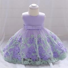 Girl Flower Princess Skirt Flower Girl Lace Dress Baby Wedding dress Birthday Party Dress 03 70cm