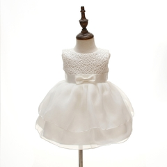 Baby Girl Lace Princess Skirt Flower Girl Dress Kids Wedding Dress Birthday Party Dress 01 24m