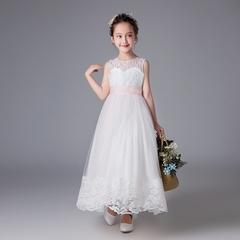 Baby Girl Lace Princess Skirt Flower Girl Dress Kids Wedding Dress Birthday Party Stage Dress 01 110cm