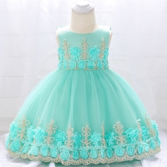 Baby Girl Lace Princess Skirt Flower Girl Dress Kids Wedding Dress Birthday Party Stage Dress 01 80cm