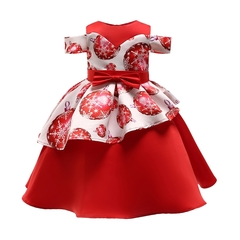 Girls princess dresses flower girl dress kids Christmas and New year's dresses 01 150cm