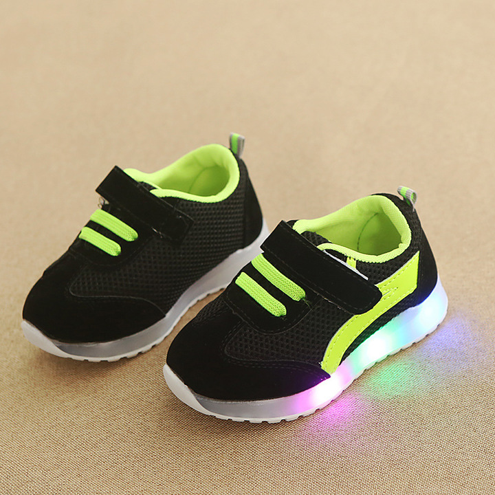 Baby girl fashion glowing casual shoes boy kids LED flash anti-skid board shoes 01 21