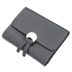 New buckle wallet ladies short tassel wallet multi-card small wallet purse blue 12.0 cm * 9.0 cm * 1.5 cm