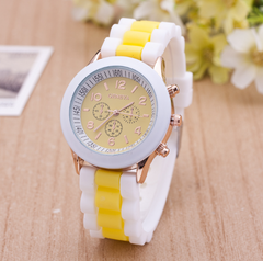 1 Pcs Two-color silicone watch