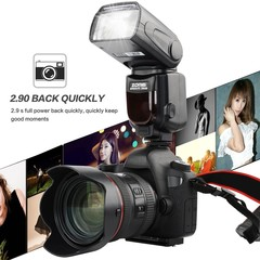 Zomei ZM430 Manual Speedlite Flashlight With LCD Display For Canon For Nikon