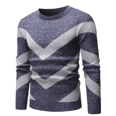 Lucky Men New Round Neck Sweater Men Fashion Foreign Trade Casual Sweater Sweater