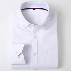 Lucky Men New arrival Men's Long-sleeved Oxford Solid Color Shirt Men's Business Casual Shirt