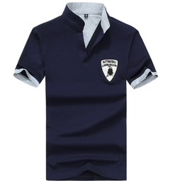 Fashion Men's Polo Shirt For Men Desiger Polos Cotton Short Sleeve Clothes Jerseys Golftennis blue xl
