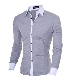Men colthes men fashion casual long sleeve shirt office wear 01 m