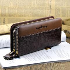 Plaid casual clutch bag men wallet long hand bag mobile phone bag as picture 20.0 cm * 11.0 cm * 4.0 cm