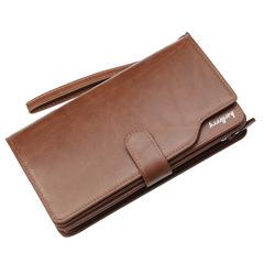 Men  wallet zipper clutch bag large capacity business new clutch bag dark brown 20.0 cm * 12.0 cm * 2.5 cm