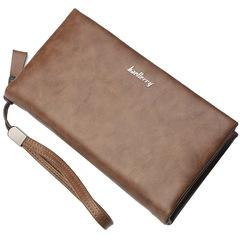 Men clutch bag new business large capacity zipper long wallet multi-function hand bag coffee 21.0 cm * 11.0 cm * 2.5 cm