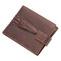Men wallet leather short wallet large capacity wallet coffee 13.0 cm * 10.0 cm * 3.0 cm