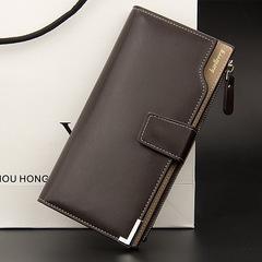 Men long wallet  youth wallet fashion clutch bag coffee 19.3 cm * 10.5 cm * 1.5 cm