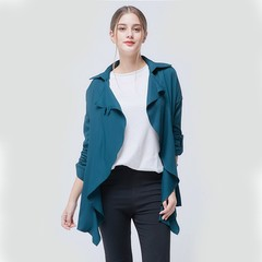 ROSE 2019 New Large Size Women's Loose Casual Wild Women's Thin Windbreaker Jacket dark green 5xl