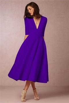 MSIN High-end new arrival sexy deep V sleeve women dress long dress