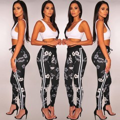 MSIN 2018 New Fashion Women Mini Sleeveless Top Ankle-Length Pencil Pant  Casual Sexy  Suits