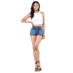MSIN Lady fashion demin shorts women clothing light blue XXL